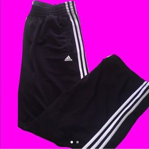 Adidas tracksuit pants with buttons on the side 💗